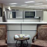 Used workstations by Allsteel 6 x 8 size Taupe colored with neutral accents.  $1,000 per workstation