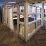"Contrada  Versatile 3-1/4"" frame and tile system; creates high-capacity workspace with a solid, architectural aesthetic. Workstyle-Based Outfits collaborative, personal, and neighborhood workspaces that blend with a range of interior environments."